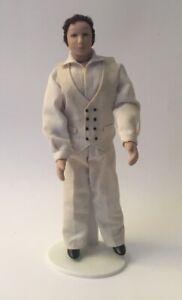 Dolls House Man wearing Beige Suit - 15 cm