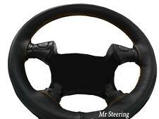 FOR TOYOTA PRIUS 3 (09-15) REAL ITALIAN LEATHER STEERING WHEEL COVER GOLD STITCH