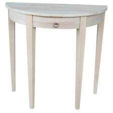 International Concepts Half Round Table Unfiinished OT-3216H Half Round Table