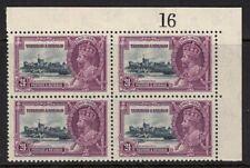 TRINIDAD & TOBAGO SG242 1935 24c SILVER JUBILEE MNH BLOCK OF 4