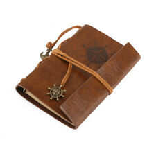 Vintage Retro Journal Travel Diary Notepad Leather Cover Blank Note Book Brown