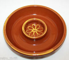 William Sonoma Margarita Mix Chip and Dip Dish Bowl Brown Portugal Flower