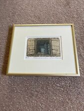 "GLYNN THOMAS RE b1946 Artist's Proof ETCHING ""French Window"""