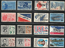 AIRMAIL STAMPS #C49-C118 MID CENTURY 16 USED US COMMEMORATIVE AIRMAILS CV$6