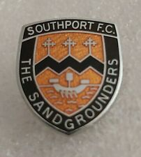 More details for southport fc the sandgrounders (merseyside) enamel football club crest pin badge