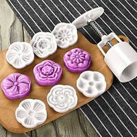 2017 Moon Cake Mold With 6 Stamps - Mid Autumn Festival DIY Decoration Press 50g