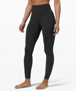 "Lululemon Women's 2 XXS  Align High Rise Nulu Pant Tight w Pockets 25"", Black"