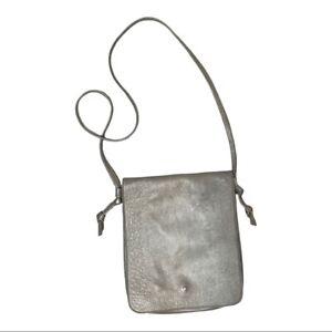 Eileen Fisher Gray Pewter Crossbody Messenger Bag
