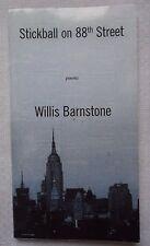 Stickball on 88th Street by Willis Barnstone (2011, Paperback)