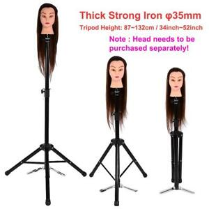 Hair Hairdressing Wig Pratice Head Holder Iron Tripod Makeup Mannequin Stand