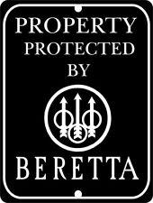 "BERETTA Firearms Aluminum 9"" x 12"" Sign"