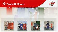 Malta 2017 MNH Postal Uniforms 4v Set Pres Pack Postal Services Cars Stamps