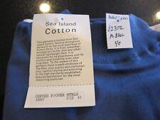 Genuine Sea Island Blue Cotton mock turtle neck pullover size 40 - New in bag
