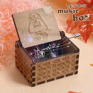 STAR WARS boîte à musique gravée de cadeaux de Noël en bois boîte à musique
