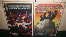 Idw Transformers Spotlight B Lot Optimus Megatron Arcee Jazz Drift Blurr Orion +