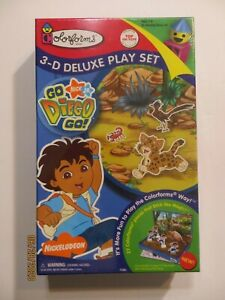 Go Diego Go Colorforms 3-D Deluxe Play Set 1997 Dora sealed