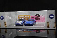 Car Model Scene Macau GP Diorama Underground Garage 3 Parking Spaces 1:43