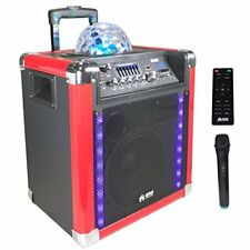 "EMB PRO PKL550BK 8"" 500W Portable Bluetooth Trolley SPEAKER LED/USB/SD/FM/AUX"