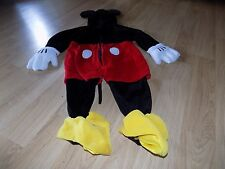 Size 6-12 Months Disney Store Mickey Mouse Halloween Costume Jumpsuit EUC