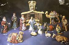 Ceramic Bisque 15 Pc Large Nativity Scene Kimple 1700 Set U-Paint Ready To Paint