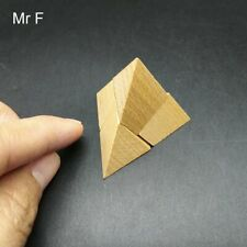 4 pcs Mini Pyramid Wooden Puzzle Mind Game Brain Teaser Toy