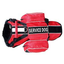 Backpack Service Dog Harness vest Removable Saddle Bags & Patches for large dogs