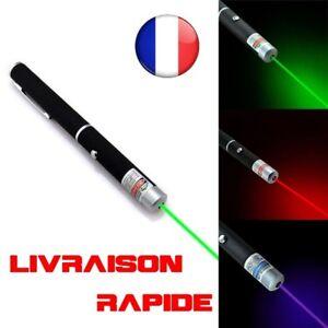 Laser Pointeur Rouge Vert Bleu Lazer 1mW Puissant Stylo Longue Distance Cadeau