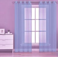 "1PC LIGHT BLUE GROMMET VOILE SHEER PANEL WINDOW CURTAIN DRAPE RUBY 63 "" 84"" 95"""