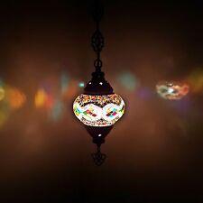 Turkish Moroccan Colourful Mosaic Hanging Lamp Light - UK TOP SELLER