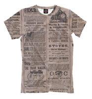 Vintage Newspaper t-shirt - retro all over printed tee news journalist