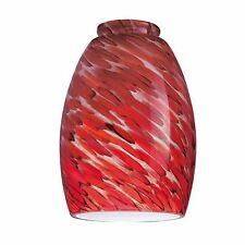 "Hand Blown Chili Pepper Mini Pendant Glass Shade 2.25"" Fitter 6.25"" x 4-3/8"" NEW"