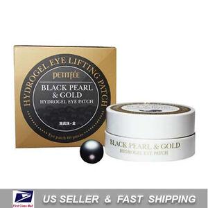 [ PETITFEE ] Black Pearl & Gold Hydrogel Eye Patch 60 Sheet