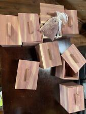 Handmade Aromatic Red Cedar Box With Cedar Sachet With Cedar Shavings