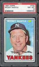 1967 Topps #150 Mickey Mantle PSA 8+ From vending. Extremely sharp! MINT corners