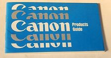 CANON Products Guide Photo Ciné : FT FX PELLIX Canonet QL Super 8 Ciné Projector
