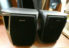 Aiwa Stereo Bookshelf Speakers / Set of Two (x2) / They Sound Great! / SX-NA22
