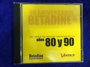 CD Betadine Anni 80 Y 90 Santana Hoffs Full Force Siffre Lamanna The Gang Jagger