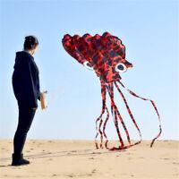 Large Kite Octopus Frameless Soft Parafoil Kites For Kids & Adults Easy New