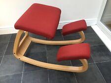 Stokke Variable Balans Kneeling Chair Red Orthopaedic Back Spine Varier