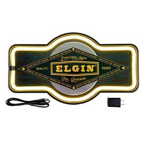 Elgin LED Neon Workshop Sign for Shop, Garage, Man Cave, Bar