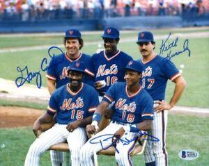 Gary Carter Keith Hernandez BAS Beckett Signed 8x10 Photo Autograph