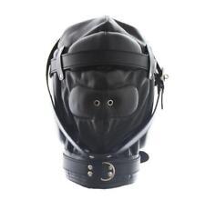 Kunstleder Erotik Mask Maske Hood Bondage BDSM Rollenspiel Abschließbar UA656