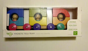 Tegu Magnetic Baby/Toddler Tram / Train Set (12 Piece) - New with Damaged Box