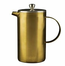 La Cafetiere 8 Cup BRUSHED GOLD CAFETIERE Double Walled Coffee Maker 1L