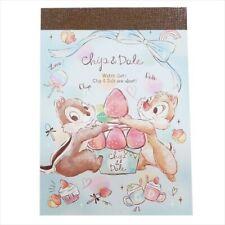 Chip & Dale Mini Memo Pad Notepad Cute Stationery Disney Japan