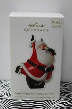 SANTA CLAUS IS COMING TO TOWN Michael Jackson 5 Musical Hallmark Ornament NEW
