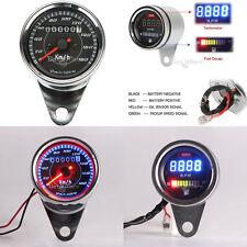 LED Speedometer Tachometer Fuel Gauge For Harley Chopper Bobber Cruiser Touring