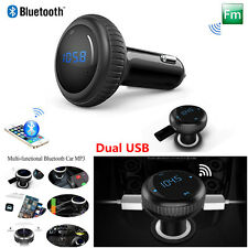 Wireless Bluetooth FM Transmitter Car Kit MP3 Player Dual USB Voltage Detection