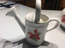 Rare Block Bernarda 1982 Mary Lou Goertson POINSETTIA watering can