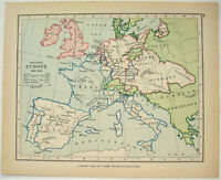 Vintage Map of Western Europe in May 1702 by Longmans Green
